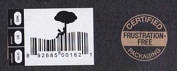 Kindle box barcode