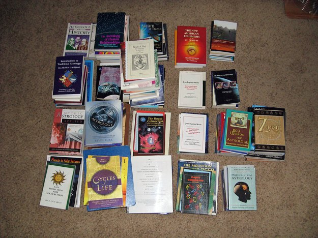 Piles of astrology books
