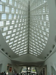 Ceiling at Milwaukee Art Museum.
