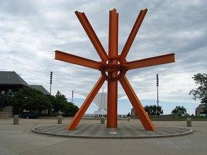 The orange asterisk.