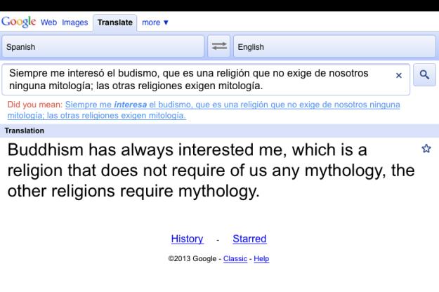 Google Translate screen capture.