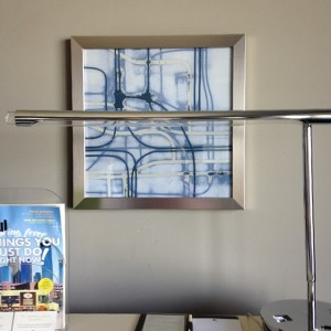 Generic painting in a hotel room.