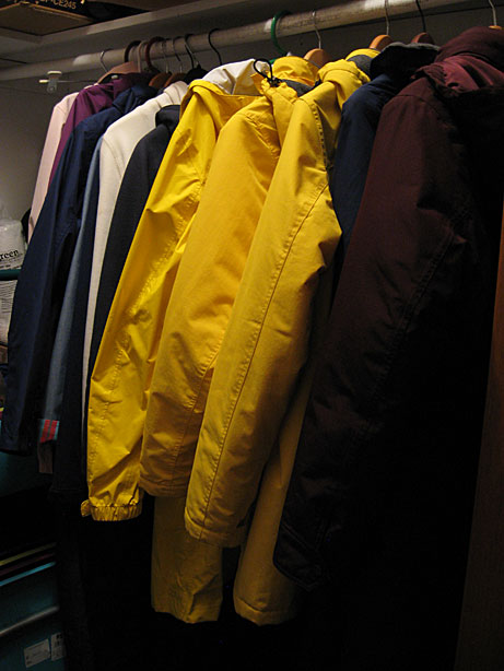 Yellow coats.