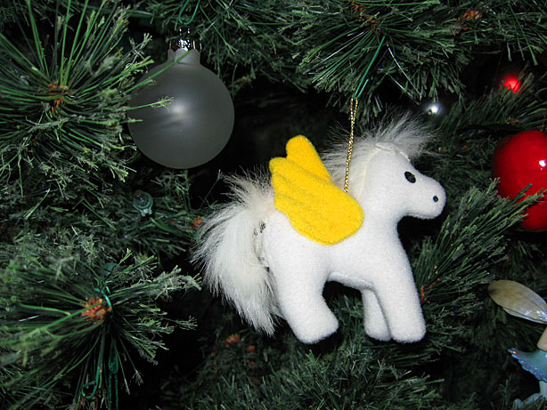 Pegasus tree ornament