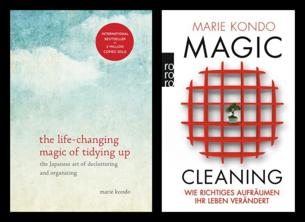 English and German covers of The Life-Changing Magic of Tidying Up.