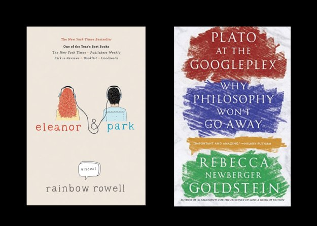 Covers of Eleanor & Park, Plato at the Googleplex